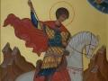 Икона вмч. Георгия написана в монастырской иконописной мастерской для храма с. Сотниково, Бурятия