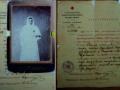 удостоверение с фотографией сестры Агнии