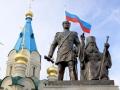 Памятник свт. Иннокентию и графу Муравьеву-Амурскому. г. Благовещенск