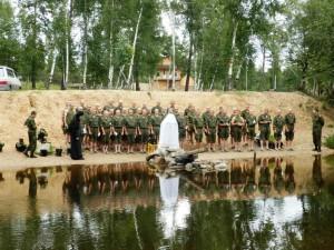 Крещение солдат