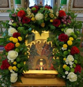 Икона сошествия Святого Духа на апостолов